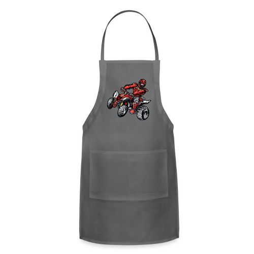Red Off-Road ATV Quad - Adjustable Apron