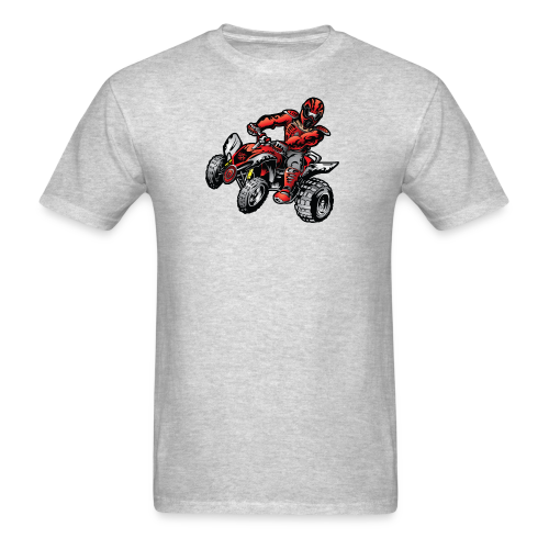 Red Off-Road ATV Quad - Men's T-Shirt