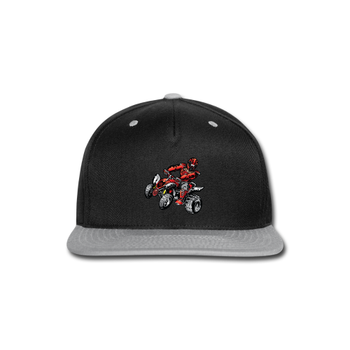 Red Off-Road ATV Quad - Snap-back Baseball Cap