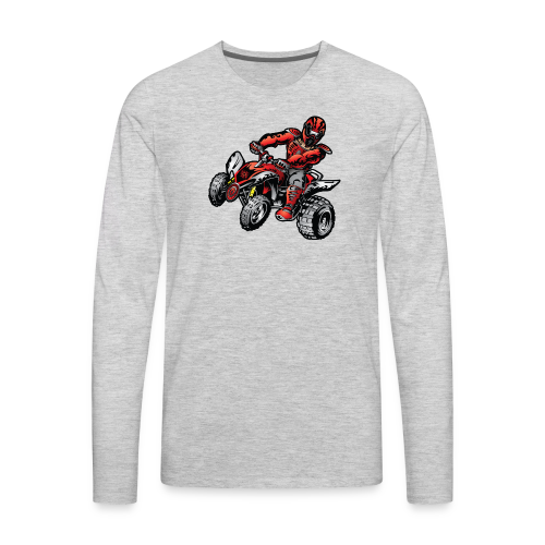 Red Off-Road ATV Quad - Men's Premium Long Sleeve T-Shirt