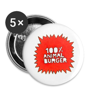100% Animal Burger - Small Buttons