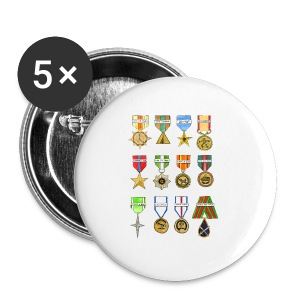 Shiny Shiny Medals - Tshirt - Small Buttons