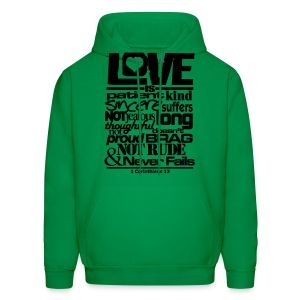 LOVE IS - Men - Men's Hoodie