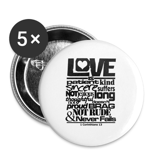 LOVE IS - Men - Large Buttons