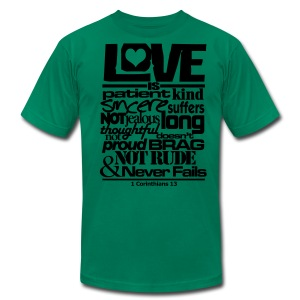 LOVE IS - Men - Men's Fine Jersey T-Shirt