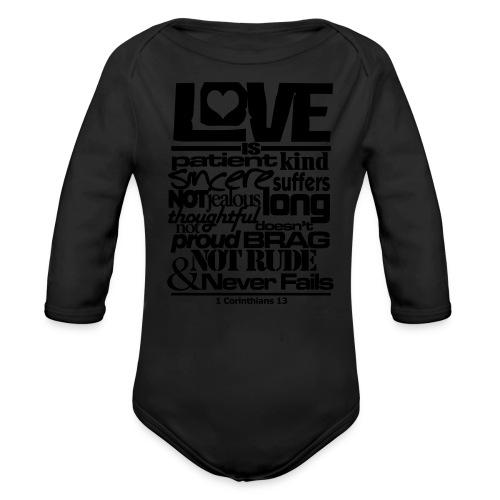 LOVE IS - Men - Organic Long Sleeve Baby Bodysuit