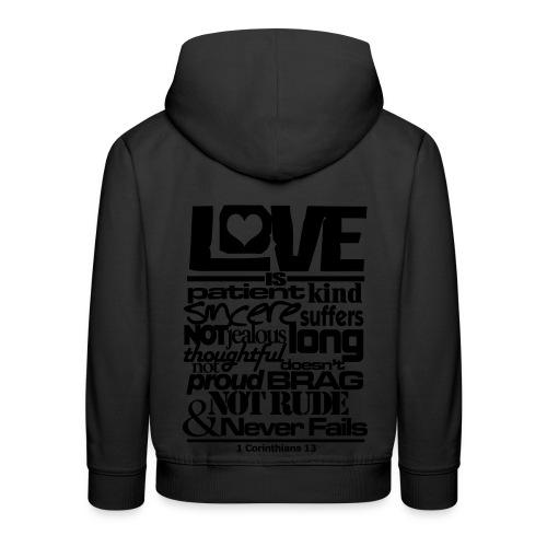 LOVE IS - Men - Kids' Premium Hoodie