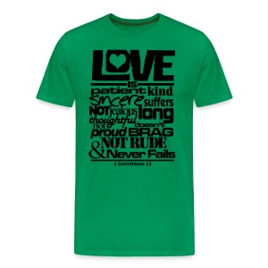 LOVE IS - Men - Men's Premium T-Shirt