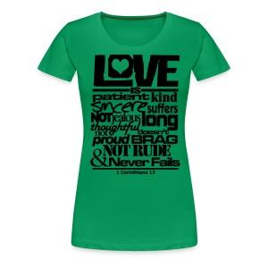 LOVE IS - Men - Women's Premium T-Shirt