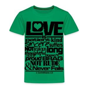 LOVE IS - Men - Toddler Premium T-Shirt