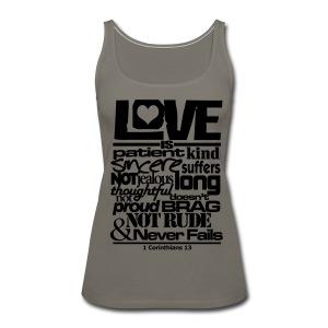 LOVE IS - Men - Women's Premium Tank Top