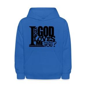 God Loves Me - Men - Kids' Hoodie