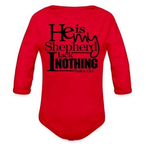He is My Shepherd - Men - Organic Long Sleeve Baby Bodysuit
