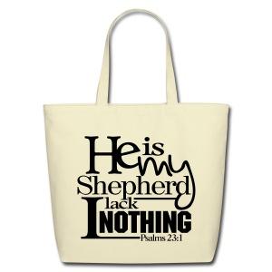 He is My Shepherd - Men - Eco-Friendly Cotton Tote