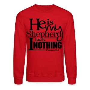 He is My Shepherd - Men - Crewneck Sweatshirt