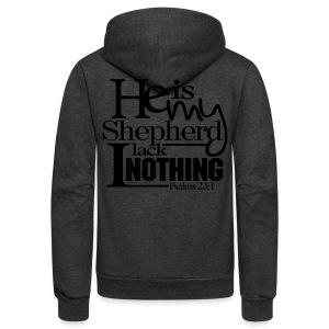 He is My Shepherd - Men - Unisex Fleece Zip Hoodie by American Apparel
