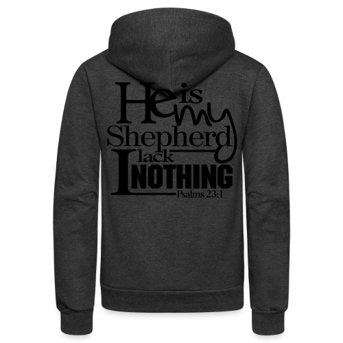He is My Shepherd - Men - Unisex Fleece Zip Hoodie