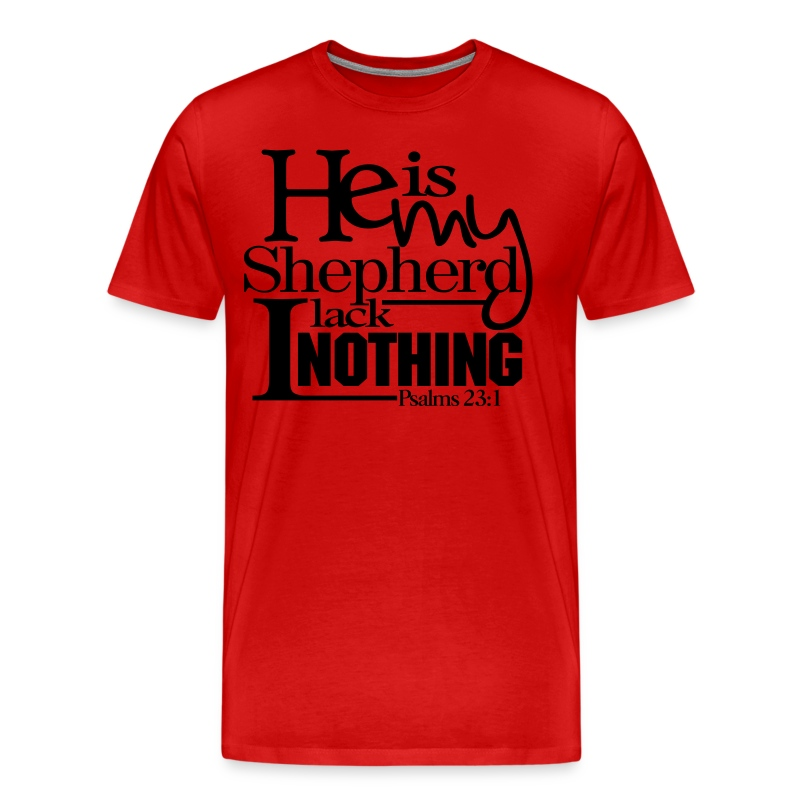 He is My Shepherd - Men - Men's Premium T-Shirt