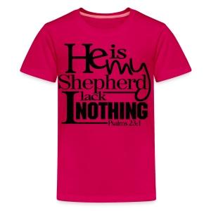 He is My Shepherd - Men - Kids' Premium T-Shirt
