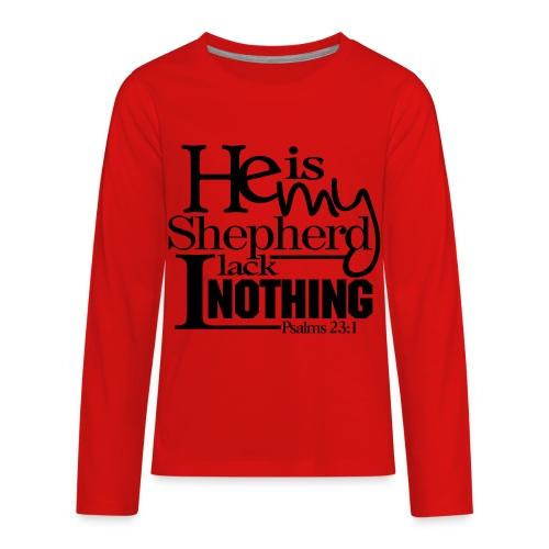 He is My Shepherd - Men - Kids' Premium Long Sleeve T-Shirt