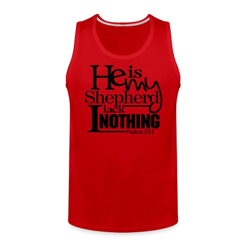 He is My Shepherd - Men - Men's Premium Tank