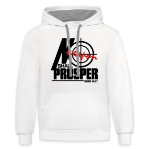 No Weapon Shall Prosper - Men - Contrast Hoodie