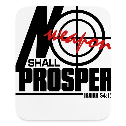 No Weapon Shall Prosper - Men - Mouse pad Vertical
