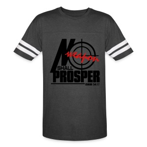 No Weapon Shall Prosper - Men - Vintage Sport T-Shirt