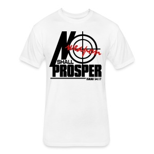 No Weapon Shall Prosper - Men - Fitted Cotton/Poly T-Shirt by Next Level