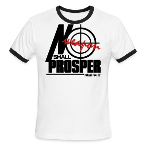 No Weapon Shall Prosper - Men - Men's Ringer T-Shirt