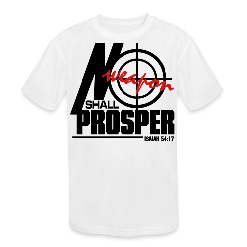 No Weapon Shall Prosper - Men - Kid's Moisture Wicking Performance T-Shirt