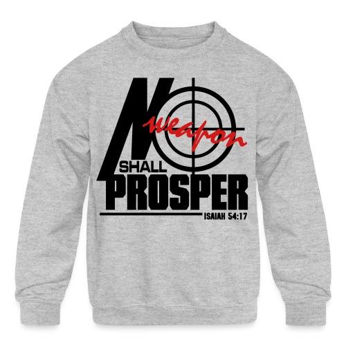 No Weapon Shall Prosper - Men - Kid's Crewneck Sweatshirt