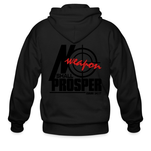 No Weapon Shall Prosper - Men - Men's Zip Hoodie