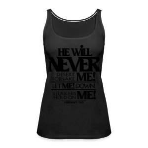 HE Will Never - Women - Women's Premium Tank Top