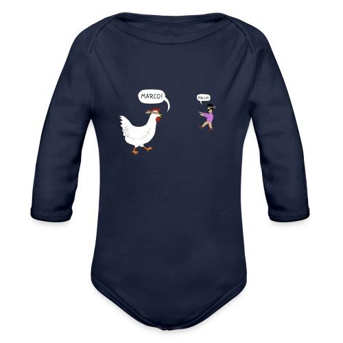Marco Pollo (premium men's tee) - Organic Long Sleeve Baby Bodysuit