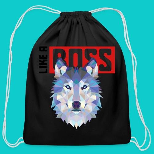 like a boss shirt - Cotton Drawstring Bag