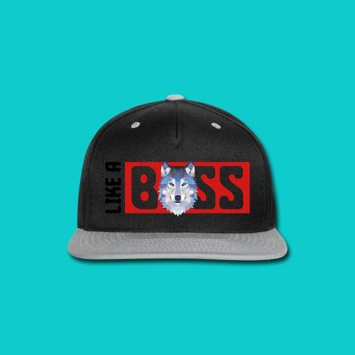 like a boss shirt - Snap-back Baseball Cap