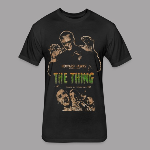 The Thing From Another World Men's T Shirt - Fitted Cotton/Poly T-Shirt by Next Level
