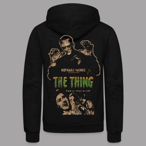 The Thing From Another World Men's T Shirt - Unisex Fleece Zip Hoodie by American Apparel