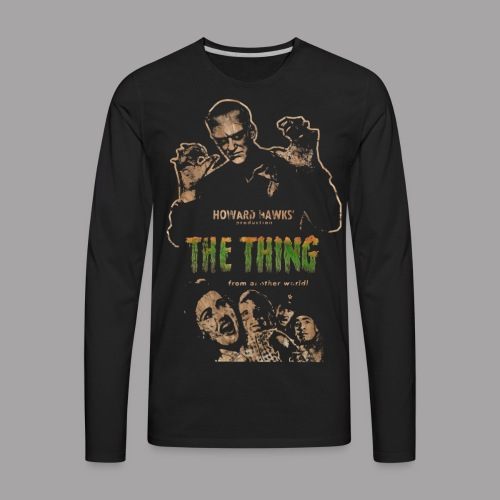 The Thing From Another World Men's T Shirt - Men's Premium Long Sleeve T-Shirt