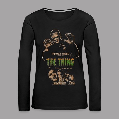 The Thing From Another World Men's T Shirt - Women's Premium Long Sleeve T-Shirt