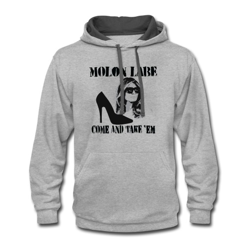 Melania Trump's Shoes: Molon Labe - come and take 'em! - Contrast Hoodie
