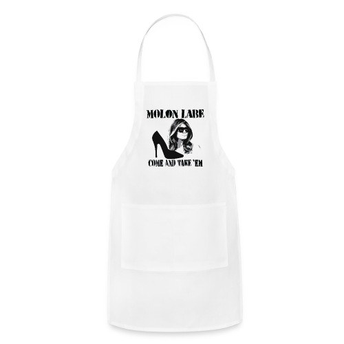 Melania Trump's Shoes: Molon Labe - come and take 'em! - Adjustable Apron