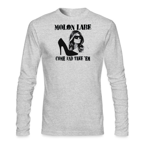 Melania Trump's Shoes: Molon Labe - come and take 'em! - Men's Long Sleeve T-Shirt by Next Level