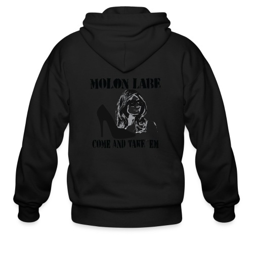 Melania Trump's Shoes: Molon Labe - come and take 'em! - Men's Zip Hoodie