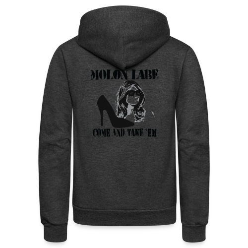 Melania Trump's Shoes: Molon Labe - come and take 'em! - Unisex Fleece Zip Hoodie
