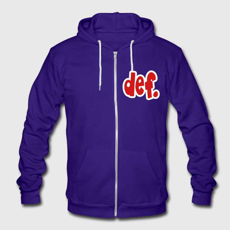 def. Zip Hoodies/Jackets - Unisex Fleece Zip Hoodie by American Apparel