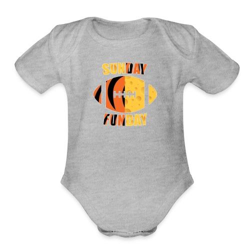 Green Bay Cincinnati - Organic Short Sleeve Baby Bodysuit