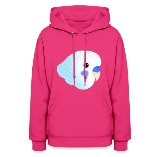 Blue Budgie Head Purple Jacket - Women's Hoodie