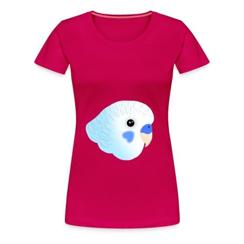 Blue Budgie Head Purple Jacket - Women's Premium T-Shirt